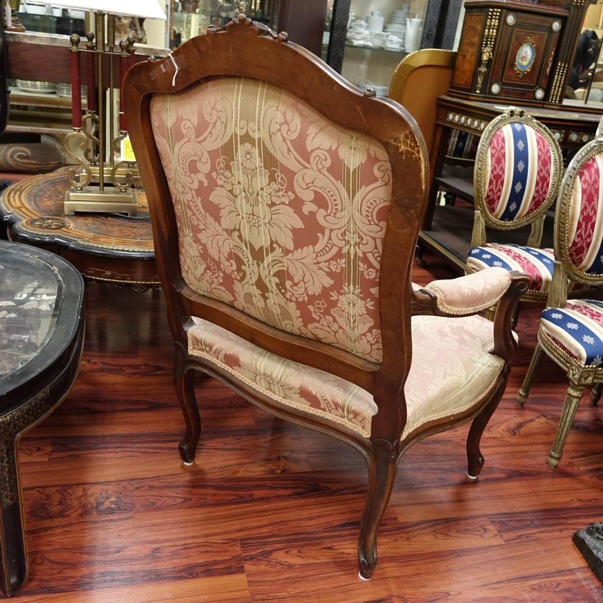 Louis XV Style Fauteuil Armchair