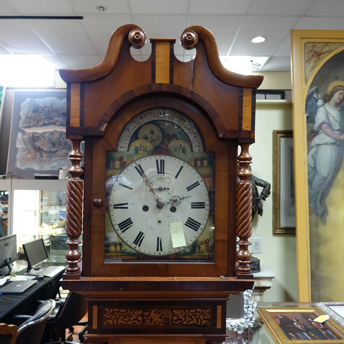 Antique English Tall Grandfather Clock