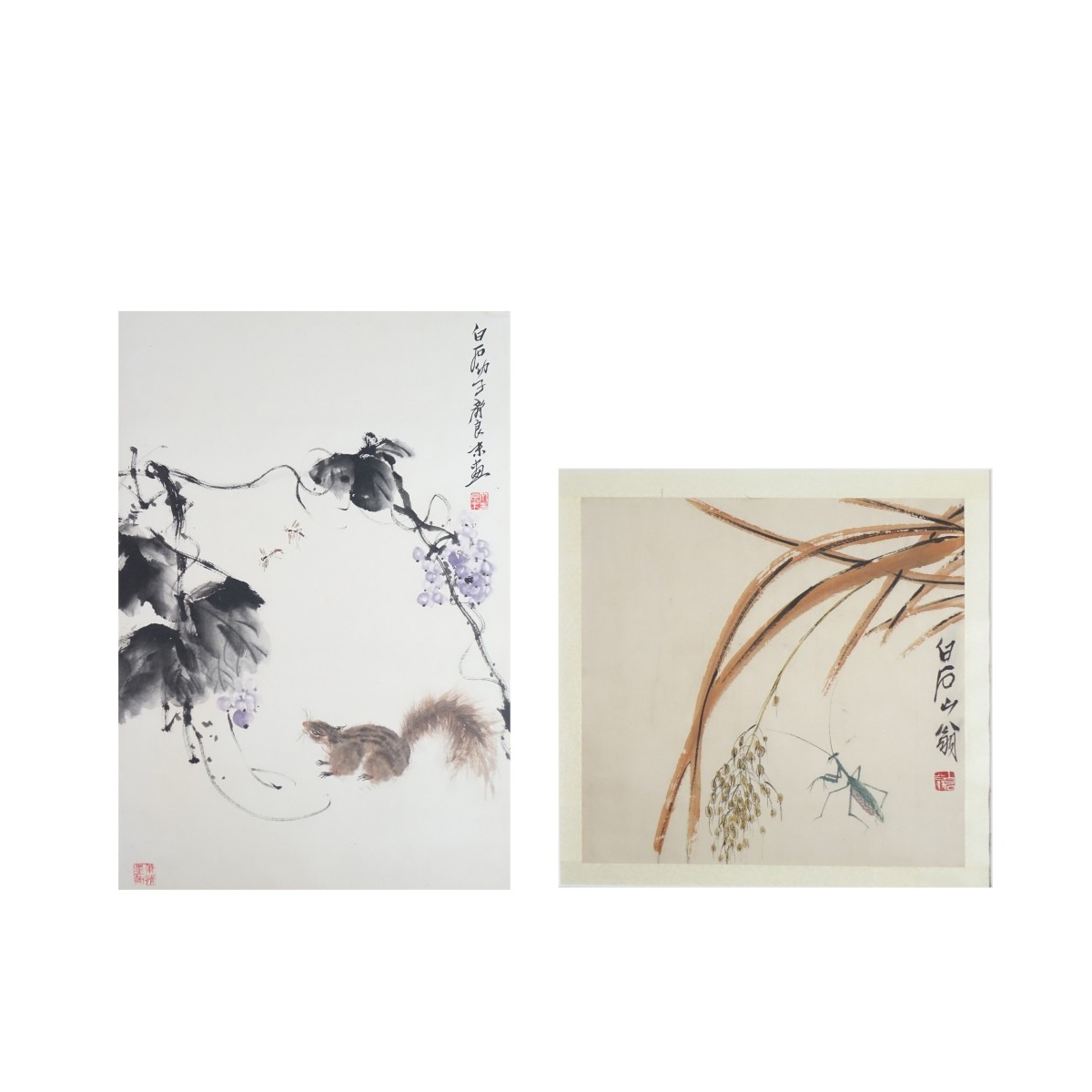 20th C. Chinese Scroll Paintings