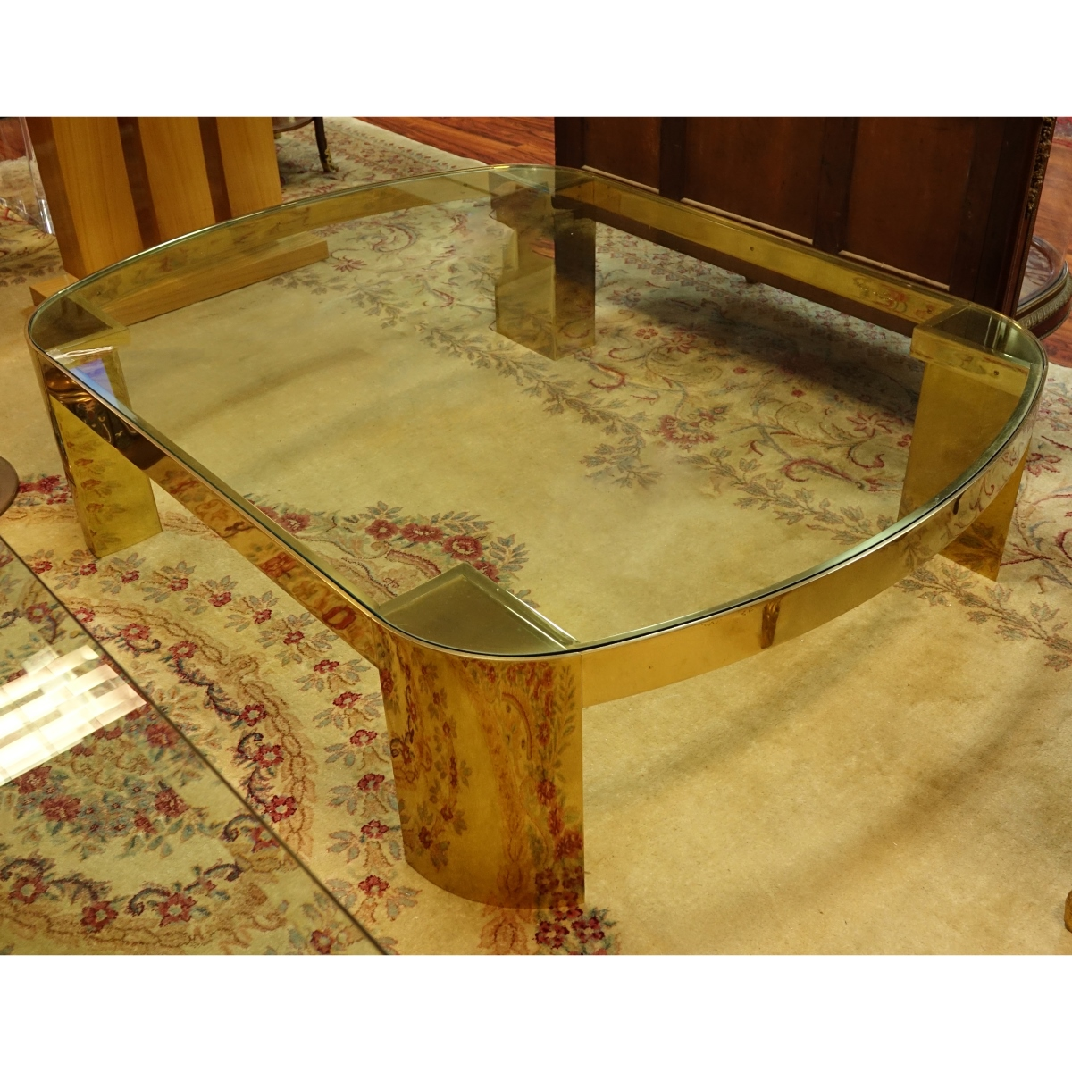Karl Springer Banker Coffee Table