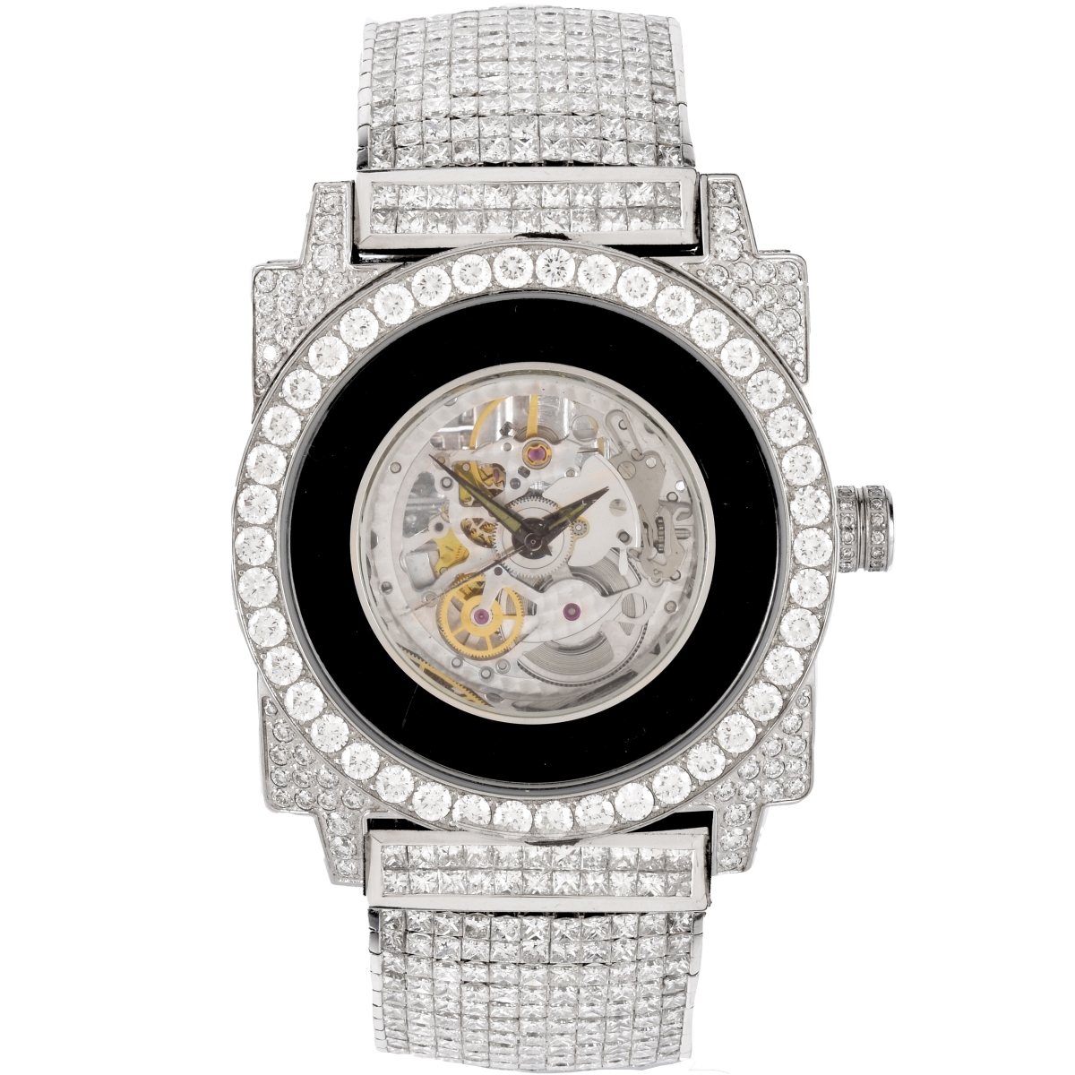 Mens Dunamis Diamond and Platinum Watch