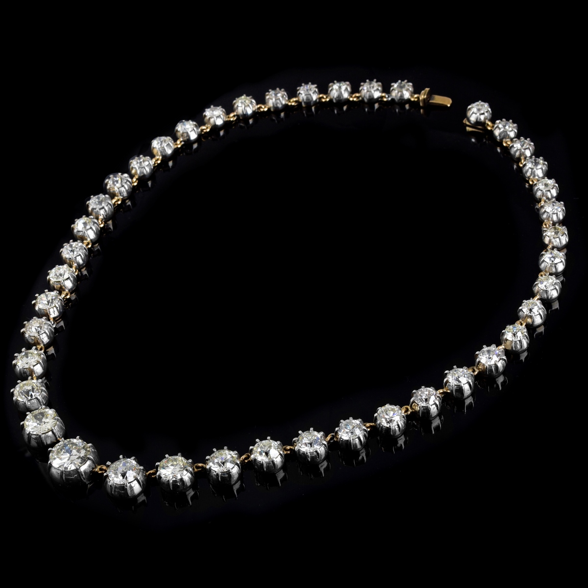 Antique 41.0ct Diamond Riviera Necklace