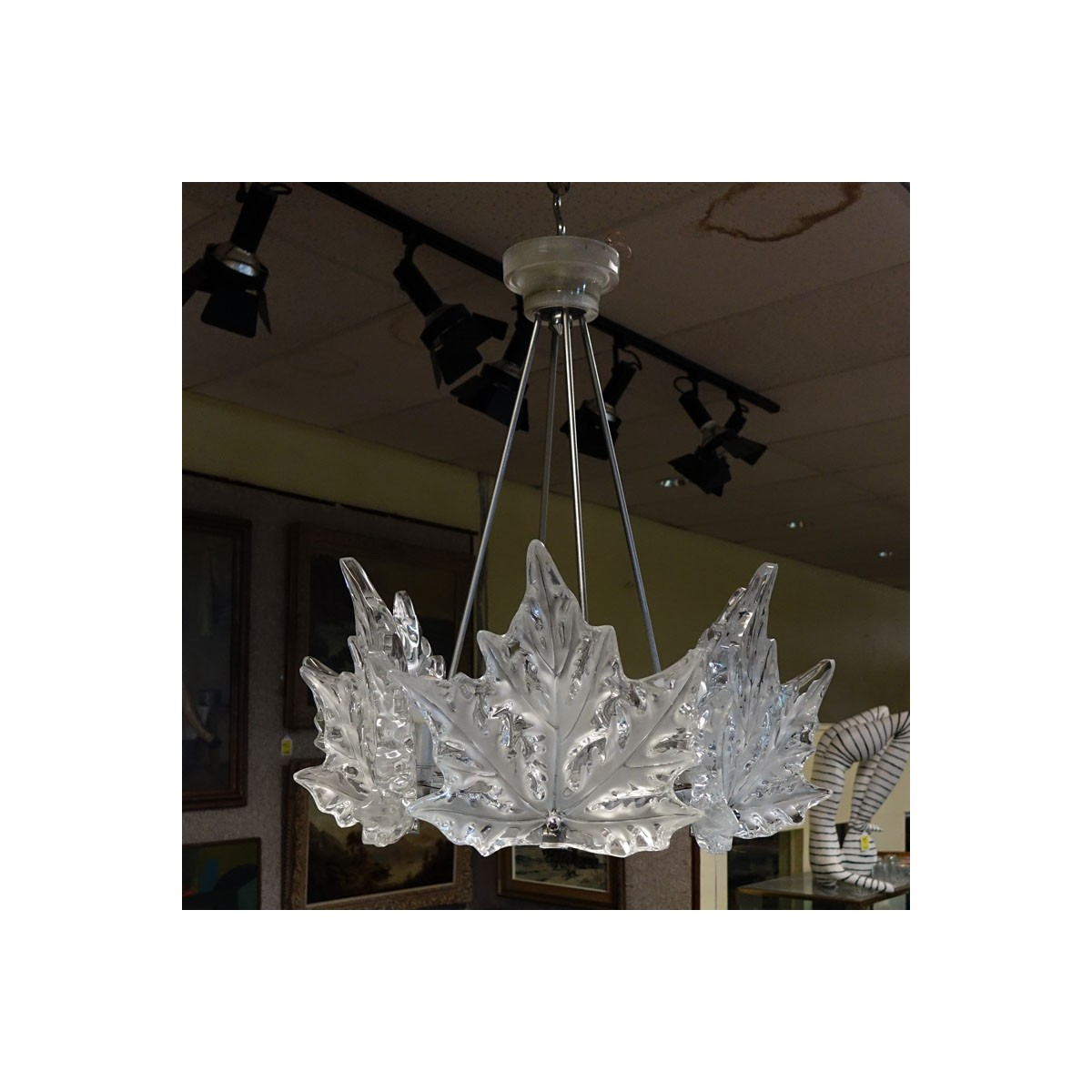 Lalique Champ Elysees Crystal Chandelier