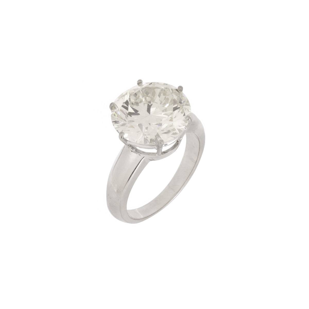 9.39 Carat Diamond and 18K Engagement Ring